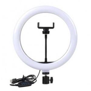 Кольцевая светодиодная лампа 26см с держателем для телефона