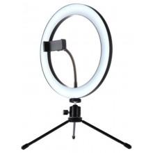 Кольцевая светодиодная лампа 26см с держателем телефона со штативом