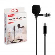 Петличный микрофон Professional Lavalier Microphone GL-120  Lightning для iPhone