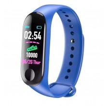 Фитнес браслет intelligence health bracelet M3 Синий