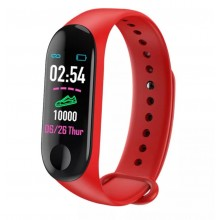 Фитнес браслет intelligence health bracelet M3 Красный