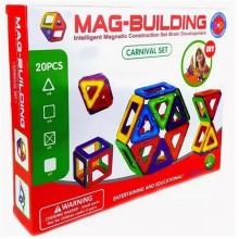 Магнитный 3D-конструктор MAG BUILDING (мэг билдинг) , 20  деталей
