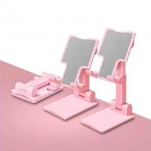 Подставка для телефона настольная Розовая