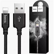 Кабель Hoco X14 USB-Lightning 1 м черный