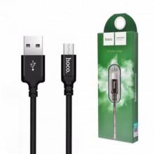 Кабель Hoco X14 USB-microUSB  1 м черный
