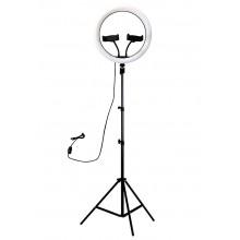 Кольцевая светодиодная лампа 30см + 2 держателя для телефона + штатив 200см Ring Fill Light