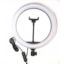 Кольцевая LED лампа 33см с держателем телефона