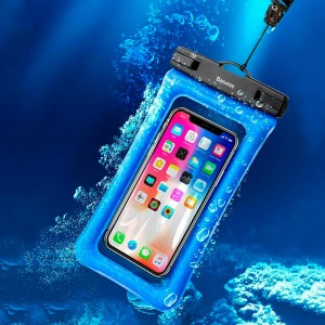 Водонепроницаемый чехол для телефона Baseus ACFSD-A03 blue