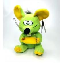 """Мягкая игрушка """"Мышь""""  A-64-1  Зеленая"""