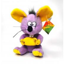 """Мягкая игрушка """"Мышь"""" A-64-2  Фиолетовая"""