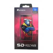 Защитное стекло 5D для Sumsung  A70  с черной рамкой Zifriend