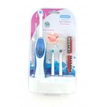 Электрическая зубная щетка с насадками (3шт) 000G-07 синяя