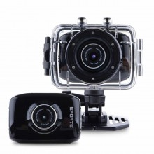 Экшн-камера Sports GLK-S020 HD 720p Водонепроницаемая black