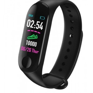 Фитнес браслет intelligence health bracelet M3 Черный