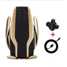 Автодержатель сенсорный с беспроводной зарядкой для смартфона и функцией Quick Charge (быстрая зарядка) Smart Sensor S6