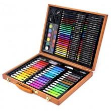 """""""Набор юного художника"""" для рисования в деревянном чемоданчике  150 предметов"""