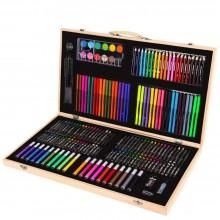"""""""Набор юного художника"""" для рисования в деревянном чемоданчике 180 предметов"""