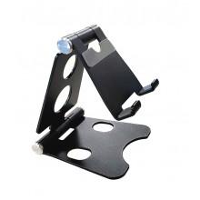 Подставка для телефона и планшета настольная металлическая регулируемая Y-331L  Чёрная