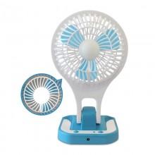 Вентилятор настольный портативный с подсветкой   5588-1