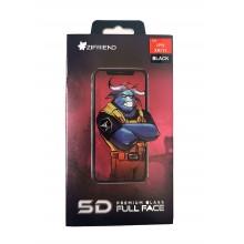 Защитное стекло 5D для iPhone XR/11 с черной рамкой Zifriend