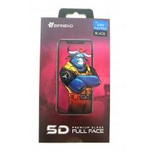 Защитное стекло 5D для Sumsung  A10/M10 с черной  рамкой Zifriend
