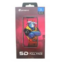 Защитное стекло 5D для Sumsung  A20/A30/A50 с черной рамкой Zifriend