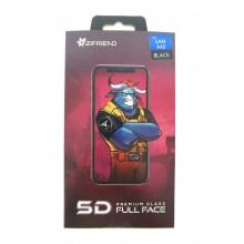 Защитное стекло 5D для Sumsung A40 с черной рамкой Zifriend