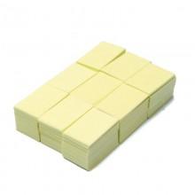 Безворсовые салфетки для маникюра, 1000шт  желтые