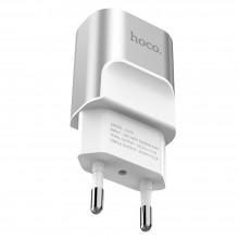 Зарядное устройство Hoco C47A  2x USB 2.1A  Metal  silver