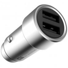 Автомобильное зарядное устройство Xiaomi Car Charger 2USB  3.6A  silver