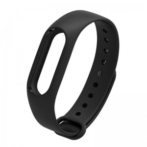 Ремешок для фитнес браслета  Xiaomi Mi Band 2  Черный