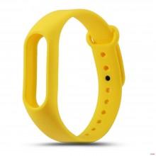 Ремешок для фитнес браслета Xiaomi Mi Band 2  Желтый