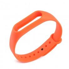Ремешок для фитнес браслета Xiaomi Mi Band 2  Оранжевый