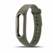 Ремешок для фитнес браслета Xiaomi Mi Band 2  Оливковый