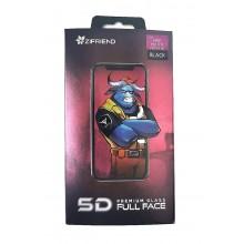 Защитное стекло 5D для Huawei Honor P30 Lite/Nova 4E с черной рамкой