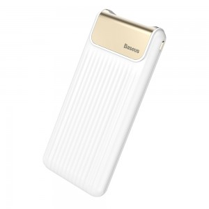 Внешний аккумулятор Baseus Thin Digital Quick Charge 10000mAh Белый