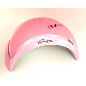 Лампа для ногтей (для маникюра) светодиодная UV/LED RainBow 3 розовая