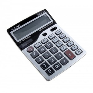 Калькулятор настольный  SDC-805 серый