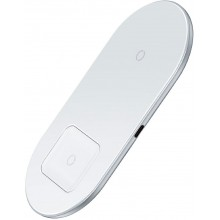 Беспроводное зарядное устройство Baseus Simple 2in1 Wireless Charger WXJK- 02 White