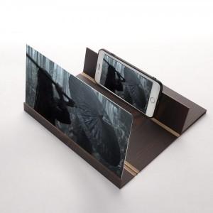 3D  увеличитель экрана смартфона  темно-коричневый