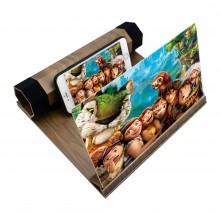 3D LUX  увеличитель экрана смартфона темно-коричневый