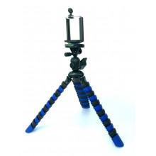 Гибкий штатив с держателем для телефона и камеры Z-05-2 синий