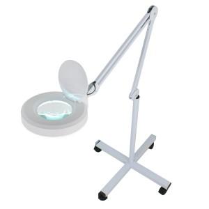 Лампа-лупа косметологическая светодиодная напольная на штативе