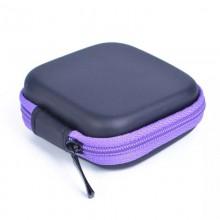 Чехол-кейс для наушников  ch2-2  черный с фиолетовым