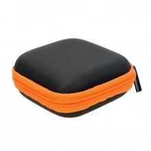 Чехол-кейс для наушников  ch2-4   черный с оранжевым