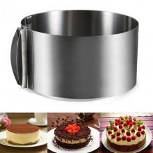 Регулируемая форма для торта круглая  FDT-01  16x30см
