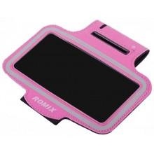 Чехол для телефона на руку для бега Romix RH07-1  розовый