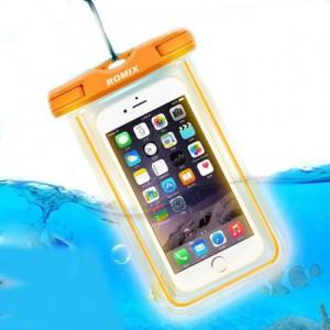 Водонепроницаемый чехол для телефона Romix RH11-3  оранжевый