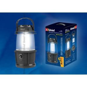 Кемпинговый светодиодный фонарь Uniel 20 LED от батареек  S-TL014-B Black
