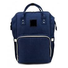 Сумка-рюкзак для мамы  B-0193-1 синий.